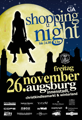 CiA ShoppingNight CLP | redfrogmedia.de | grafikdesign | gestaltung | satz & layout | augsburg
