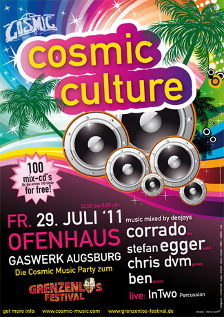 Flyer Cosmic Culture | redfrogmedia.de | grafikdesign | gestaltung | satz & layout | augsburg
